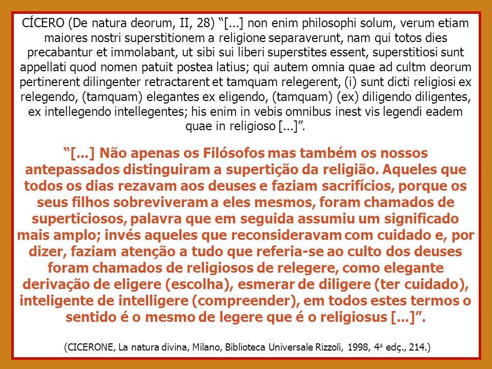 CÍCERO (De natura deorum, II, 28) [